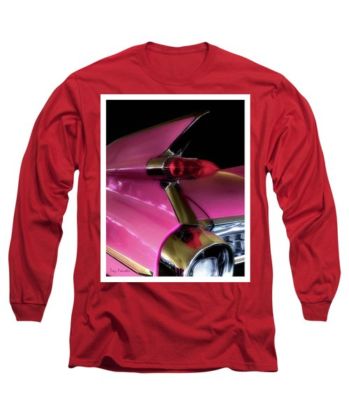 Pink Cadillac Long Sleeve T-Shirt by Trey Foerster