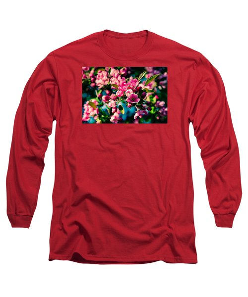 Long Sleeve T-Shirt featuring the photograph Pink Crab Apple Flowers by Alexander Senin
