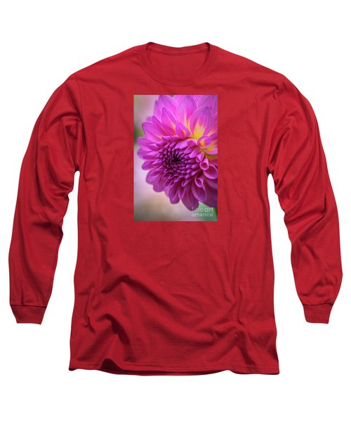 Pink Dahlia Long Sleeve T-Shirt