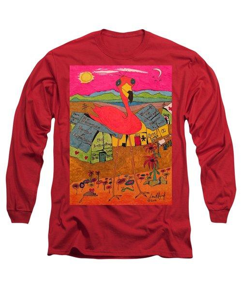 Pink Flamingo Camp Long Sleeve T-Shirt