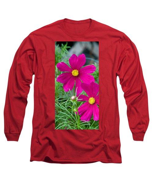 Pink Flower Long Sleeve T-Shirt by Michael Bessler