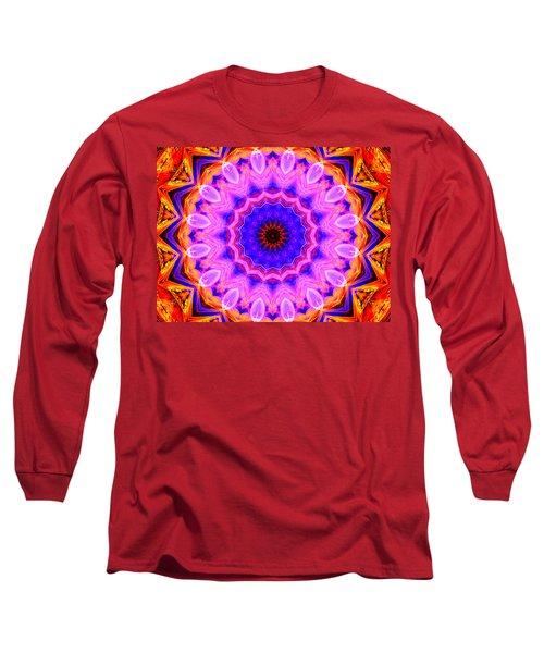 Pink Kaleidoscope Long Sleeve T-Shirt