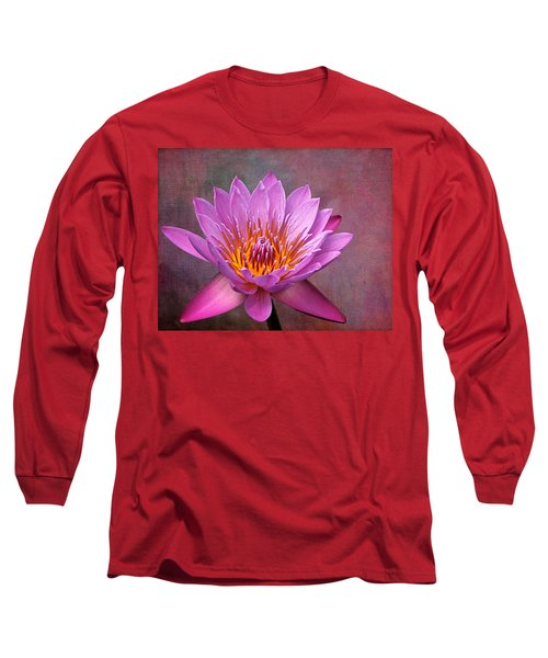 Pink Lady Long Sleeve T-Shirt by Judy Vincent