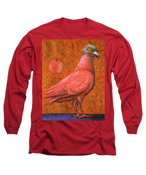 Long Sleeve T-Shirt featuring the painting Pink Lady by Leah Saulnier The Painting Maniac