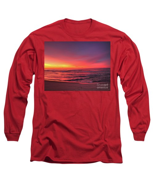 Pink Lbi Sunrise Long Sleeve T-Shirt