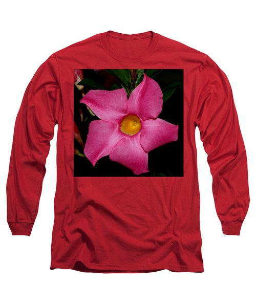 Pink Mandevilla Long Sleeve T-Shirt