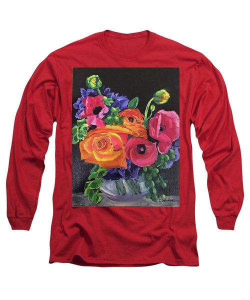 Pink On Black Long Sleeve T-Shirt