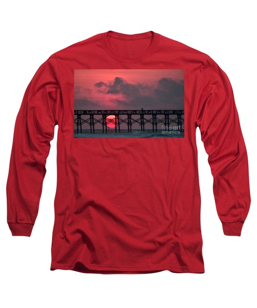 Pink Pier Sunrise Long Sleeve T-Shirt