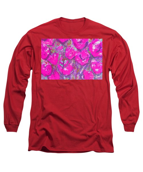 Pink Poppies Long Sleeve T-Shirt by Gallery Messina