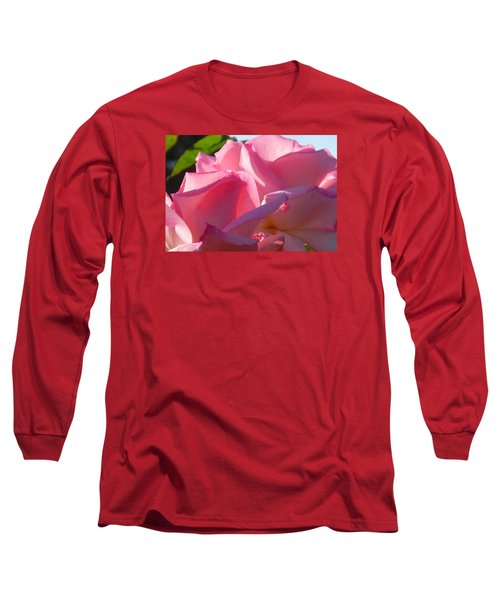 Pink Roses Long Sleeve T-Shirt by Karen Molenaar Terrell