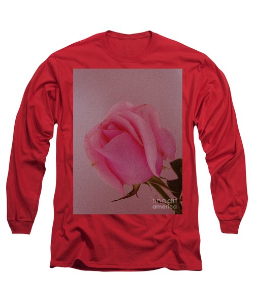 Pink Single Rose Long Sleeve T-Shirt