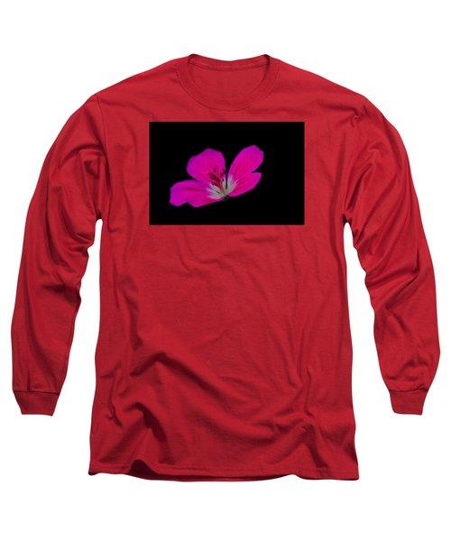 Pink Stamen Long Sleeve T-Shirt by Richard Patmore