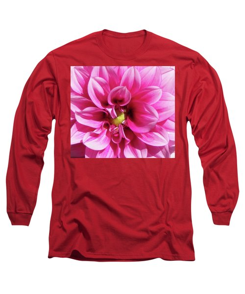 Pink Summer Flower Macro Long Sleeve T-Shirt