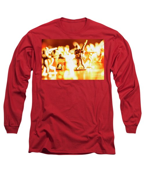Long Sleeve T-Shirt featuring the photograph Plastic Army Men 1 by Micah May
