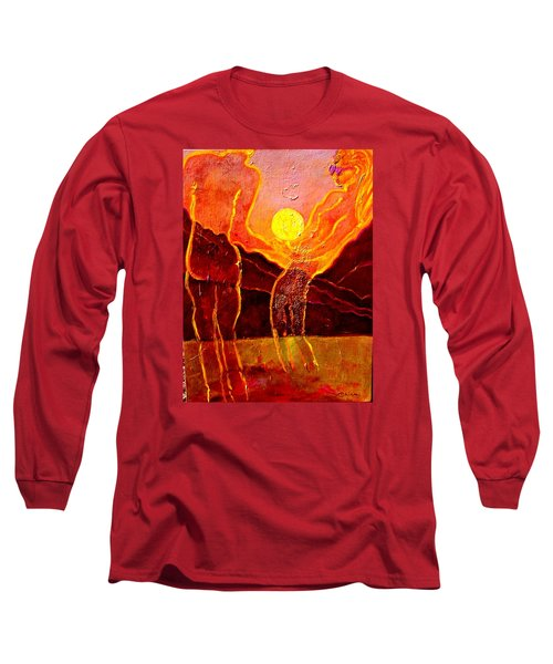 Playing With The Moon Long Sleeve T-Shirt