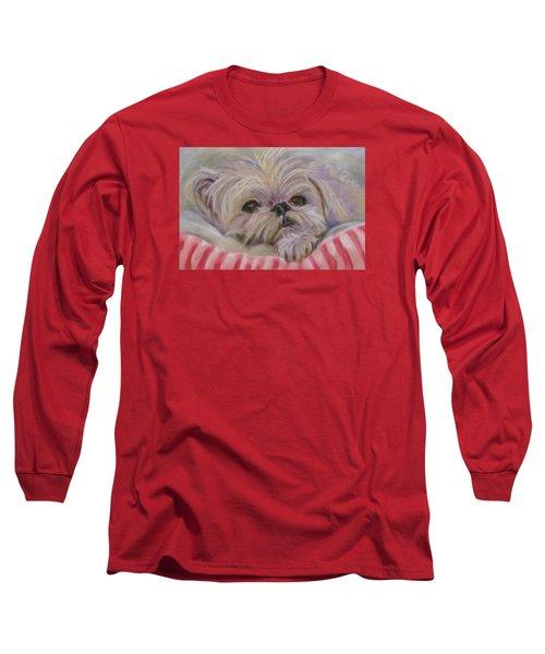 Please Let Me Sleep Long Sleeve T-Shirt by Barbara O'Toole