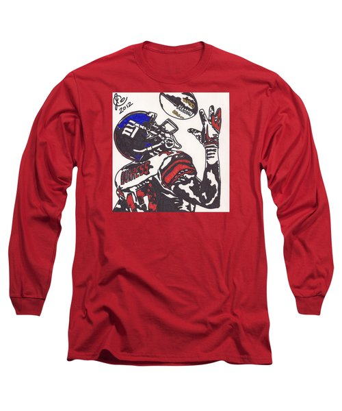 Long Sleeve T-Shirt featuring the drawing Plexico Burress by Jeremiah Colley