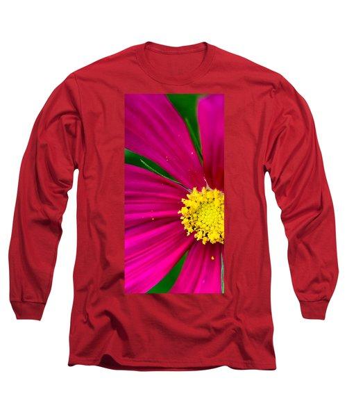 Plink Flower Closeup Long Sleeve T-Shirt by Michael Bessler