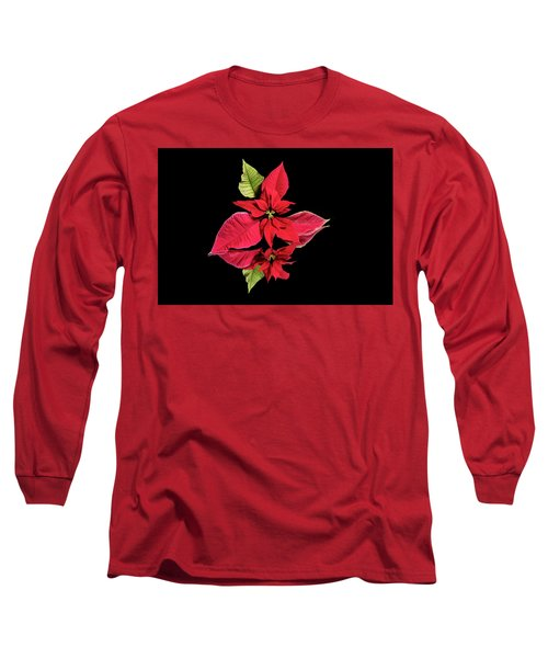 Poinsettia Reflection  Long Sleeve T-Shirt