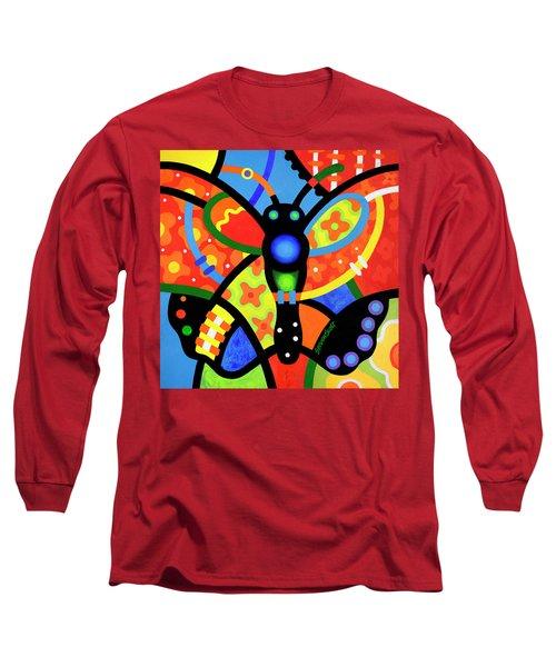 Kaleidoscope Butterfly Long Sleeve T-Shirt