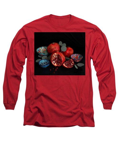 Pomegranate Power Long Sleeve T-Shirt