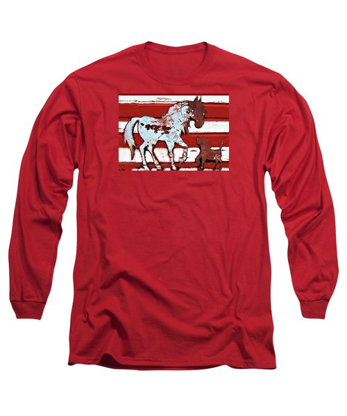 Pony And Pup 3 Long Sleeve T-Shirt