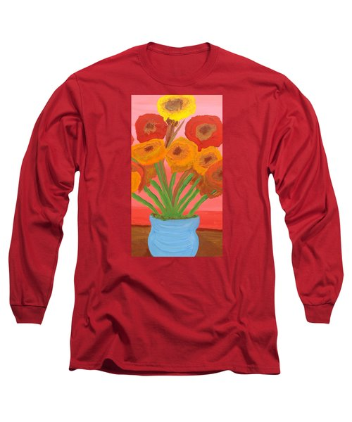 Long Sleeve T-Shirt featuring the painting Poppies 1 by Don Koester