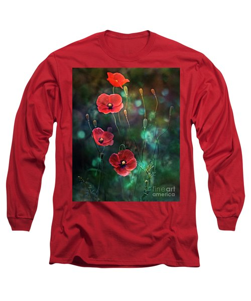 Poppies Fairytale Long Sleeve T-Shirt by Agnieszka Mlicka