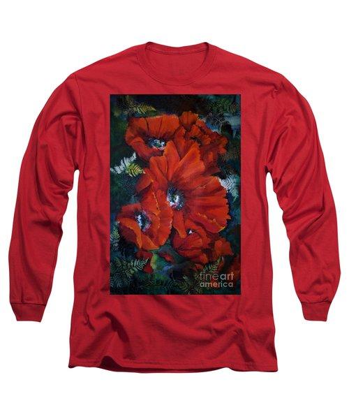 Poppies In Light IIi Long Sleeve T-Shirt