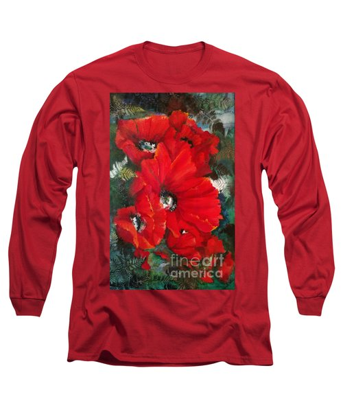 Poppies In Light Long Sleeve T-Shirt