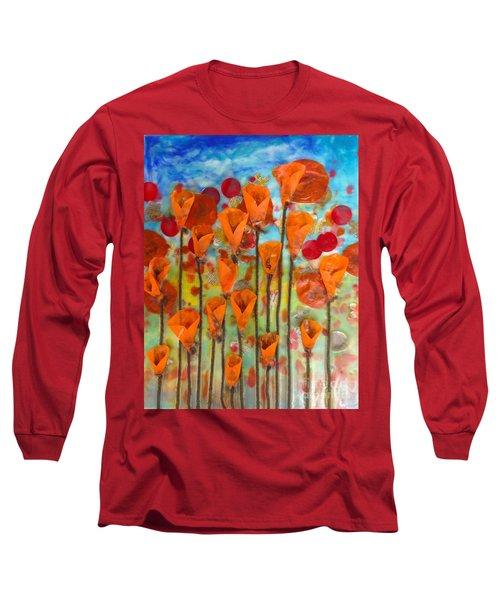 Poppies Make Me Happy Long Sleeve T-Shirt