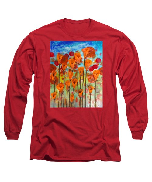 Poppies Make Me Happy Long Sleeve T-Shirt