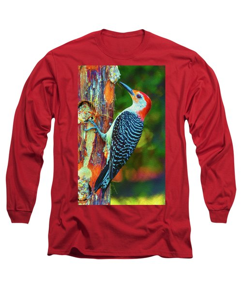Popping Color Woodpecker Long Sleeve T-Shirt