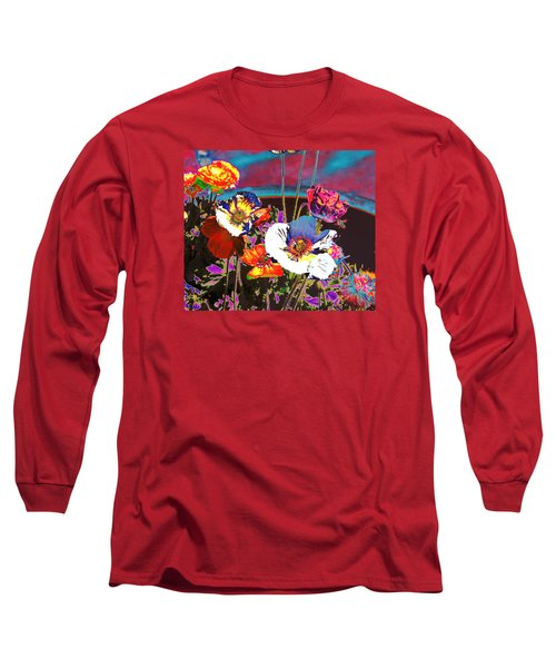 Long Sleeve T-Shirt featuring the photograph Poppy Abstract 3 by M Diane Bonaparte