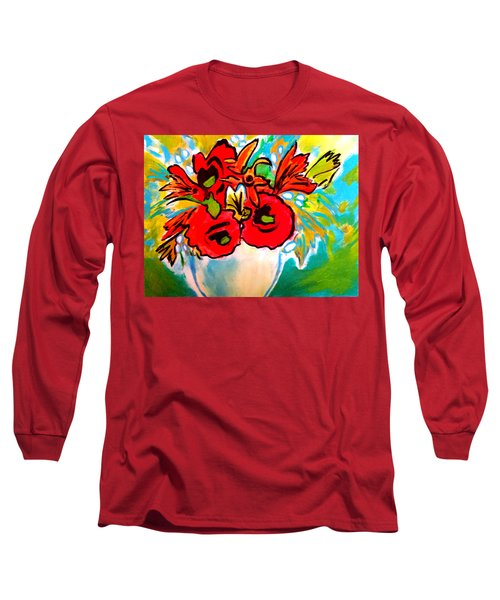 Poppy Bouquet Reworked Long Sleeve T-Shirt