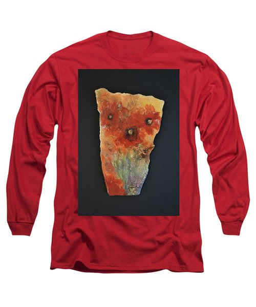 Long Sleeve T-Shirt featuring the ceramic art Poppy Impressions by Kathleen Pio
