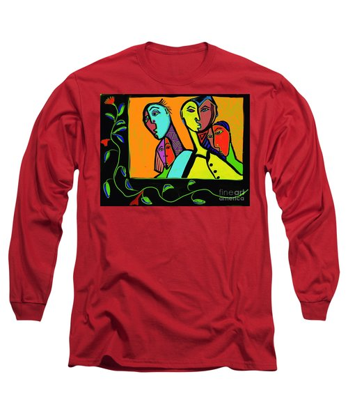 Portrait Long Sleeve T-Shirt by Hans Magden