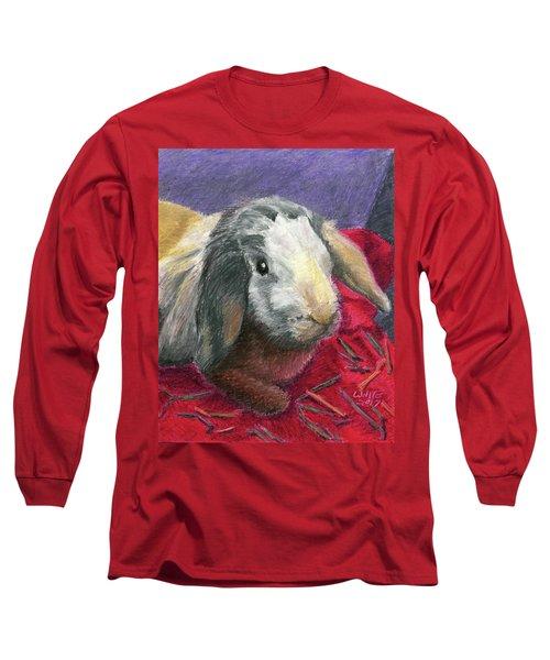 Portrait Of A Bunny Long Sleeve T-Shirt