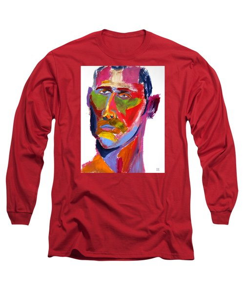 Long Sleeve T-Shirt featuring the painting Portrait Prez by Shungaboy X