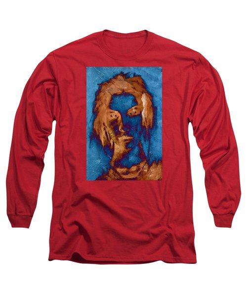 Posterized Portrait Long Sleeve T-Shirt