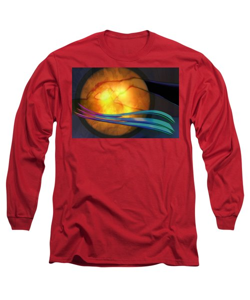 Power Of Touch Long Sleeve T-Shirt by Ed Hall