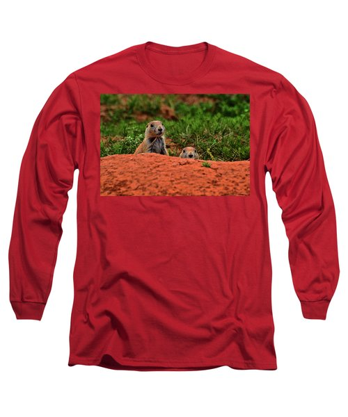 Long Sleeve T-Shirt featuring the photograph Prairie Dogs 004 by George Bostian