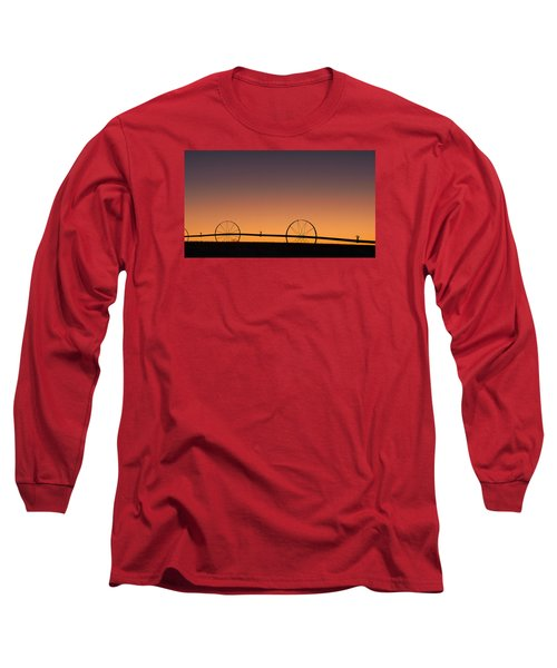 Pre-dawn Orange Sky Long Sleeve T-Shirt by Monte Stevens