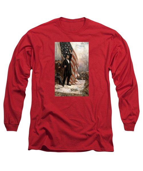 President Abraham Lincoln Giving A Speech Long Sleeve T-Shirt