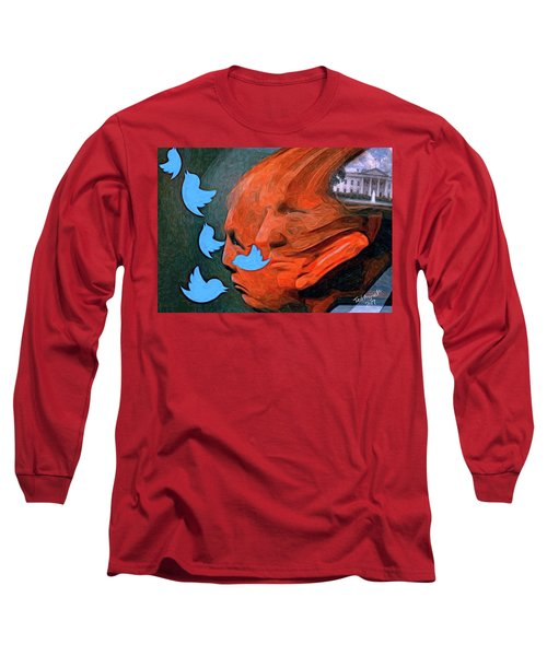 President Of Twitter Long Sleeve T-Shirt by Ted Azriel