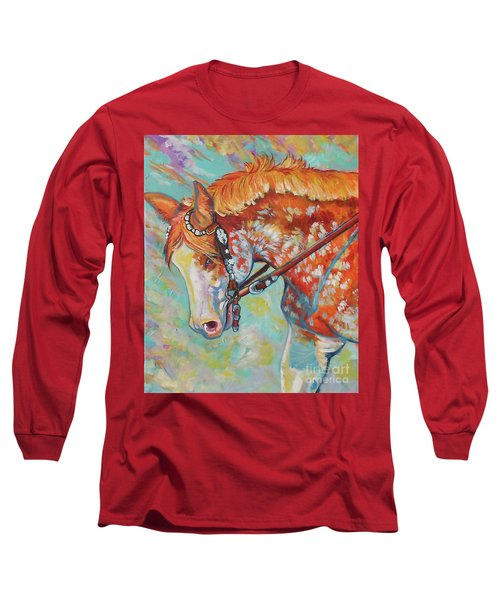 Long Sleeve T-Shirt featuring the painting Pretty Paint by Jenn Cunningham