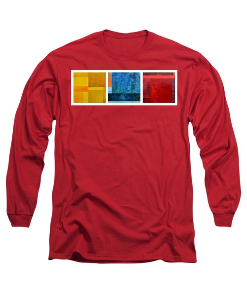 Long Sleeve T-Shirt featuring the painting Primary - Artprize 2017 by Michelle Calkins