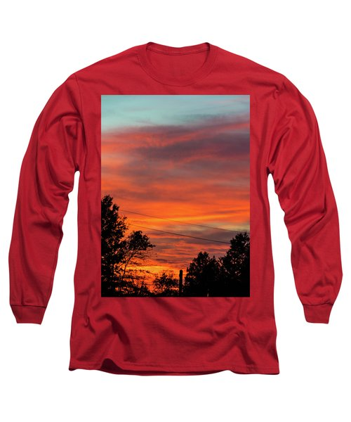 Long Sleeve T-Shirt featuring the photograph Princeton Junction Sunset by Steven Richman