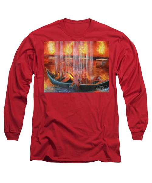 Prophetic Message Sketch 45 Detail Of Boat Long Sleeve T-Shirt