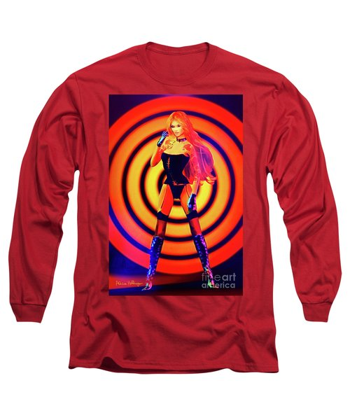 Psychedelic Hypnotic Pin-up Girl Long Sleeve T-Shirt